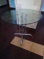 Стол круглый с стекла
